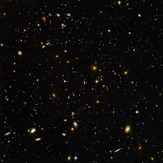 high-resolution image of the Hubble Ultra Deep Field