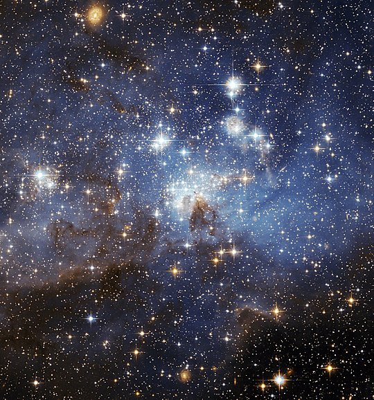 A star forming region in the Large Magellanic Cloud