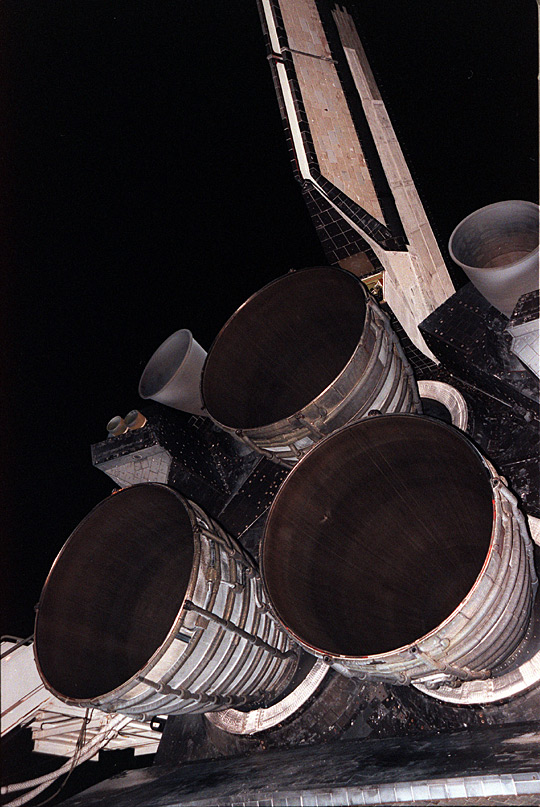 The three nozzles of the Space Shuttle Main Enginewith