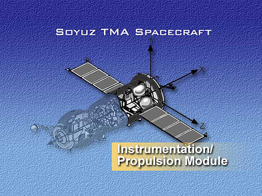 Soyuz spacecraft's Instrumentation/Propulsion Module