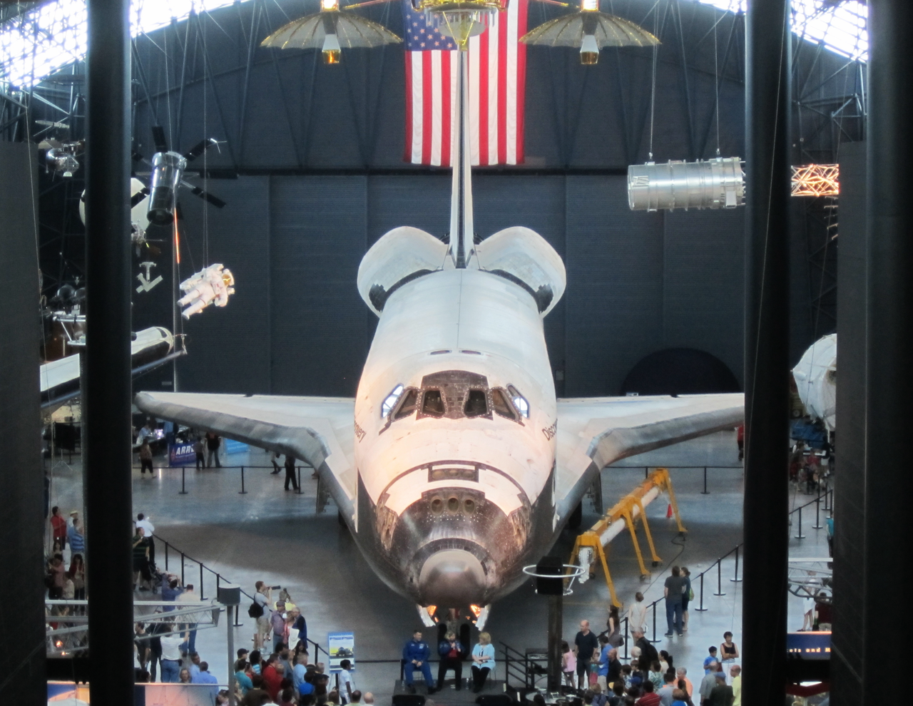 Space Shuttle Discovery at the Udvar Hazy museum