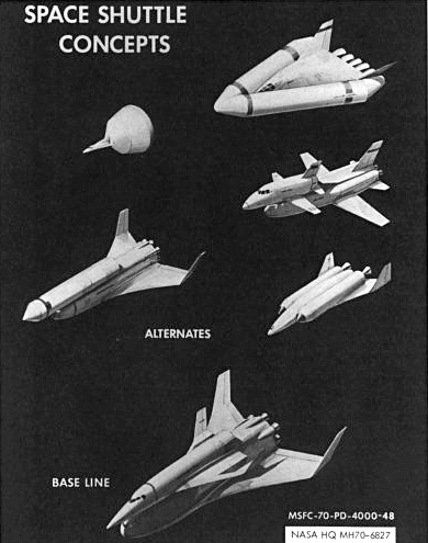 Early U.S. space shuttle concepts.