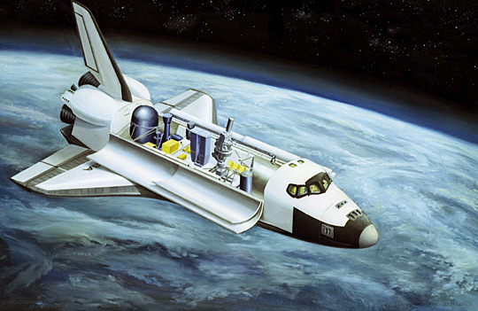 Space art for the Spacelab 2 mission