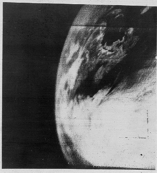 First television image of Earth from space