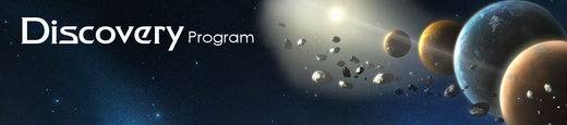 Header of the Discovery Program website (January 2016)