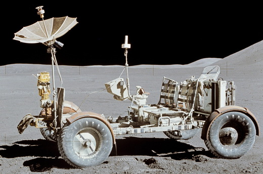 Apollo 15 Lunar Roving Vehicle in its final resting place on the Moon