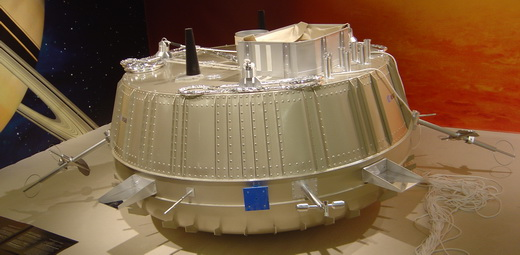 Scale model of the Huygens probe which landed on Titan