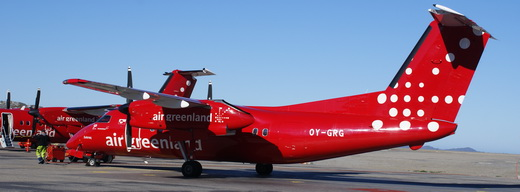 Bombardier Dash 8 turboprops were added to the Air Greenland fleet in 2010 and are used for scheduled flights and charter flights, such as shuttle service for the Inuit Circumpolar Council 2010 conference in Nuuk.