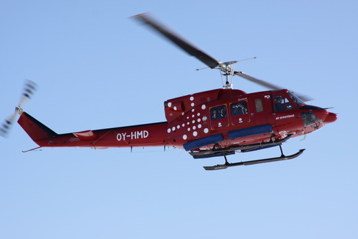 Air Greenland Bell 212 approach on Thule Air Base (2010)