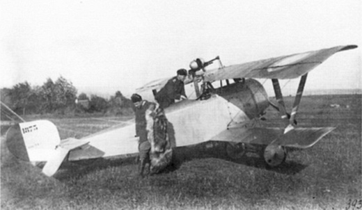 Russian Nieuport 21 equipped with non-standard Hotchkiss M1909machine gun