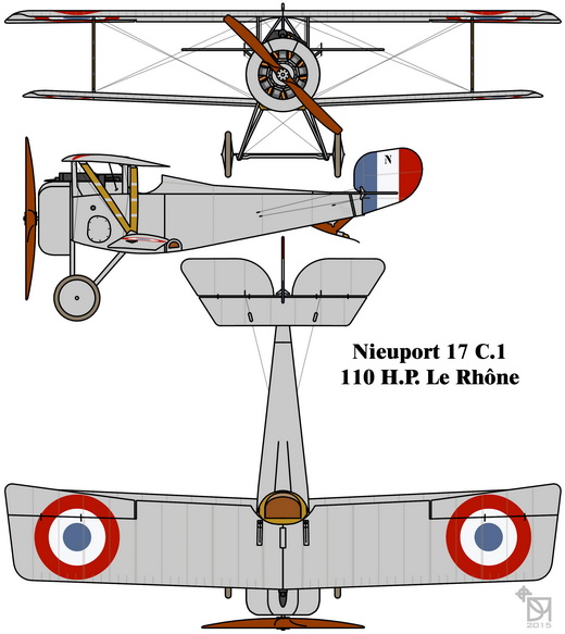 Nieuport 17 C.1 drawing