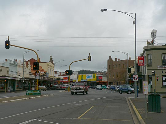 Ararat, Victoria. The main street, looking west.