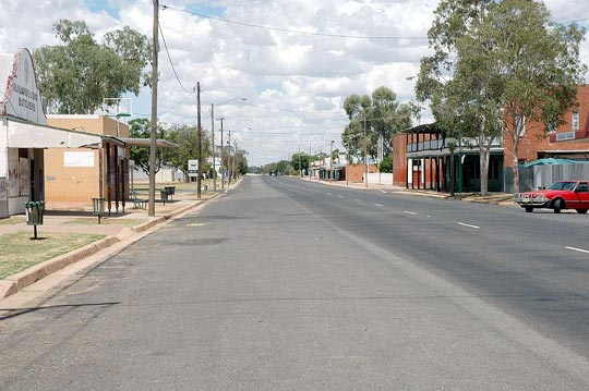 The main street of Brewarrina, Kamilaroi Highway