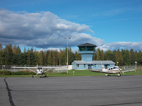 The secondary tower of Mikkeli Airport