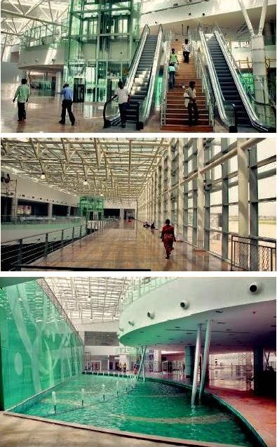 Inside view of the newly constructed terminal at SVP International Airport, Ahmedabad