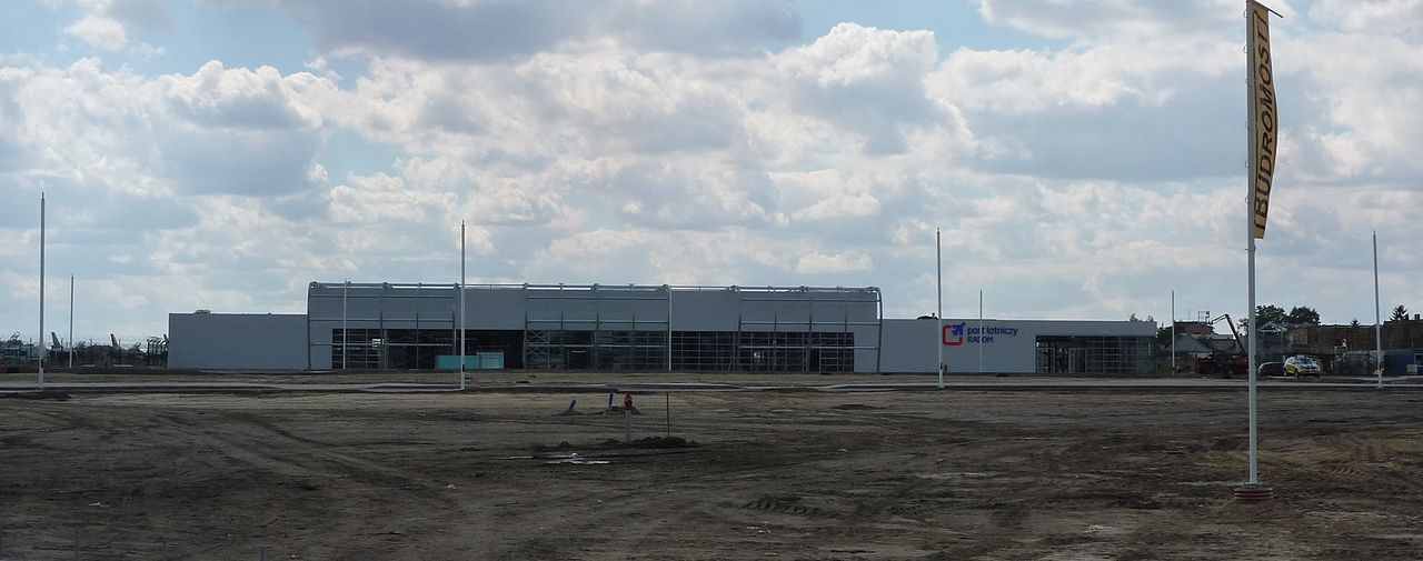 Terminal building and parking during construction