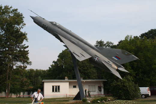 A MiG-21 gate guardian at Batajnica