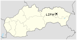 LZPW is located in Slovakia