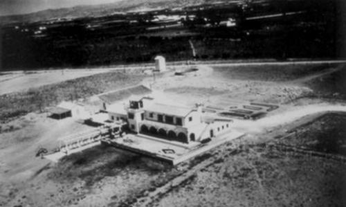 Aerial picture from Malaga airport at 1948