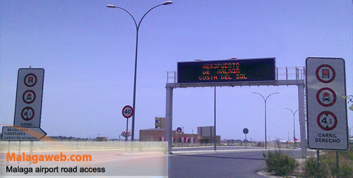 New road access to Malaga airport from the north