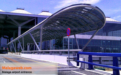Picture of the new access to Malaga airport by car in 2012
