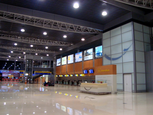 Interior of the new terminal