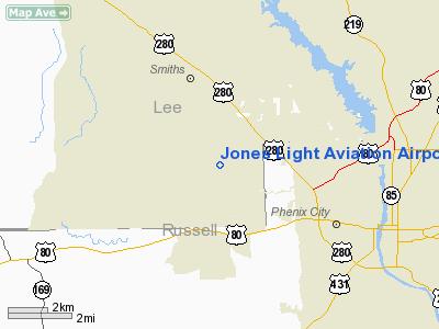 Jones Light Aviation Airport - Alabama airports
