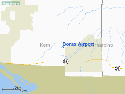 Borax Airport - Airports in california