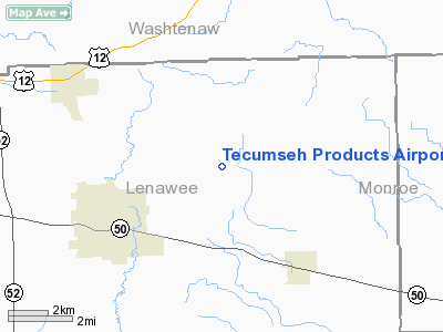 Tecumseh Products Airport - Airports in michigan