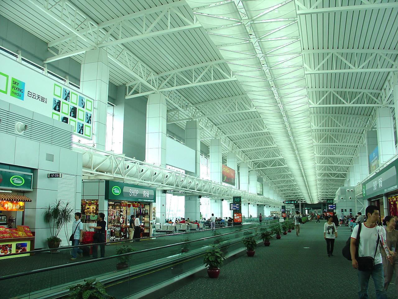 Aeroporto Guangzhou Arrive : Baiyun intl airport