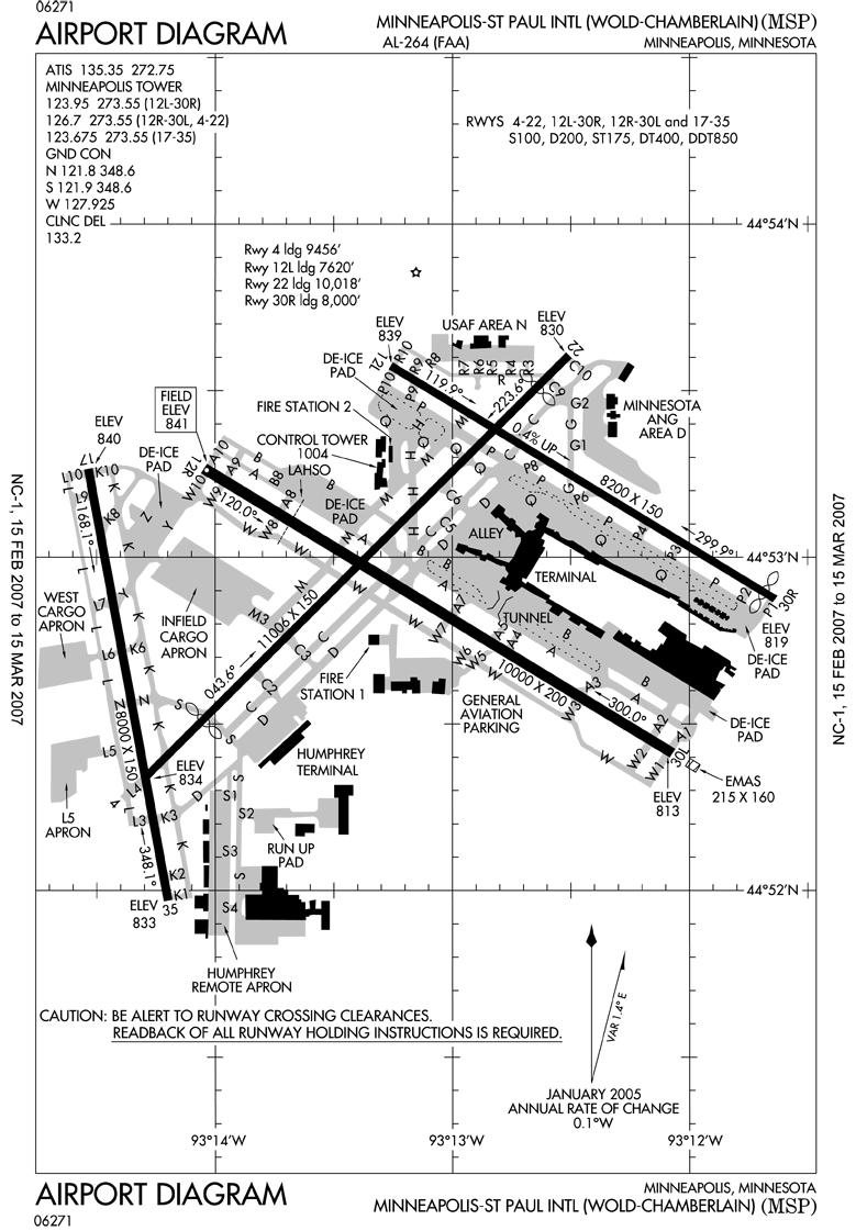 Minneapolis st Paul Intl Woldchamberlain Airport