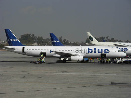 Airblue A321 at Benazir Bhutto International Airport.