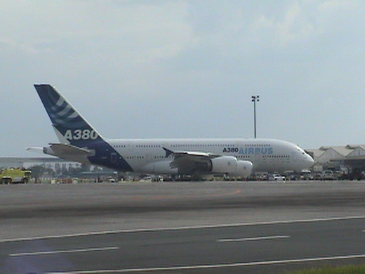 The Airbus A380 visited NAIA on October 11, 2007.