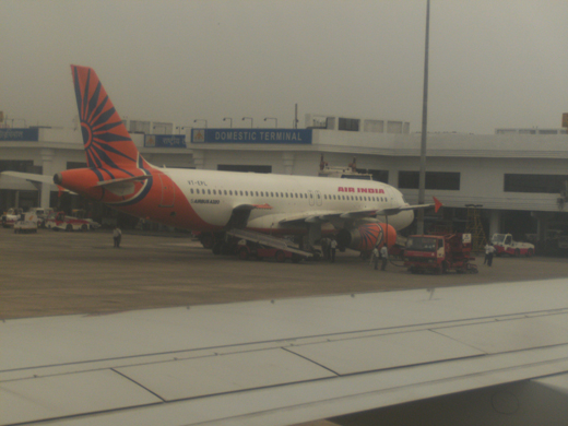 An Indian Airlines A320 at the domestic terminal