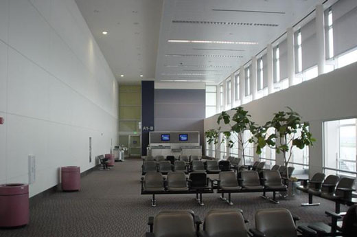 Gate and waiting area in Terminal A