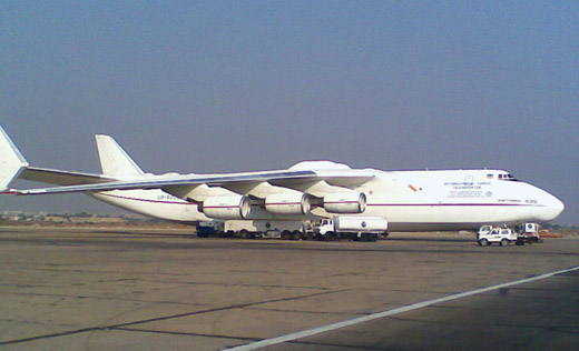 Antonov An-225 parked at Jinnah International, Cargo terminal