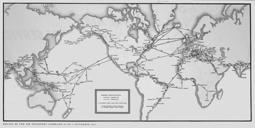 Air Transport Command Routes