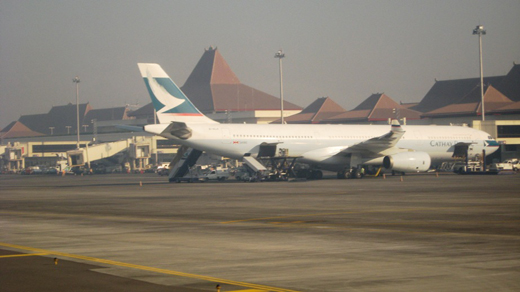 A Cathay Pacific Airbus A330-300 spotted at Juanda