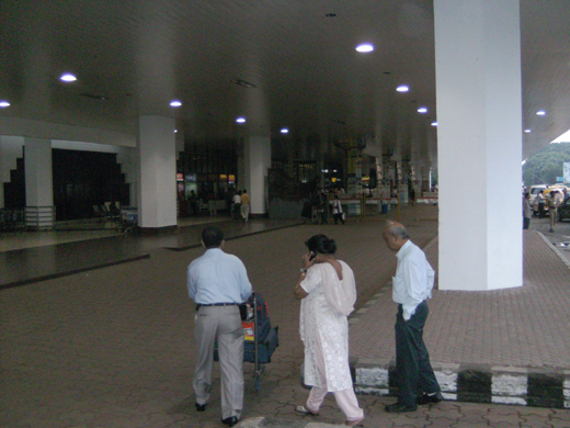 The entry to the domestic terminal