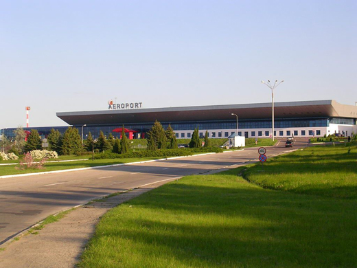 The main terminal of Chisinau International Airport