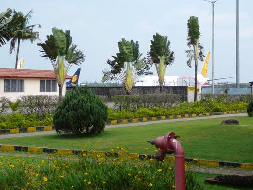 The exterior way towards Kochi Airport
