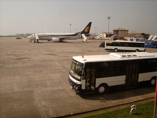 Jet Airways vehicles at Dabolim