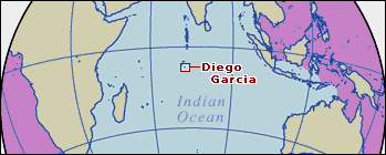 Location map of Diego Garcia.