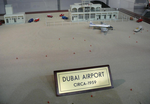 A model of Dubai Airport as it looked in 1959