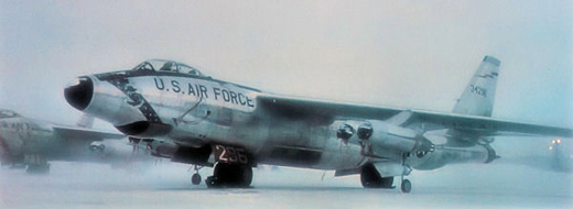 Boeing RB-47H-1-BW Stratojet Serial 53-2496 on the snowy Eielson flightline.