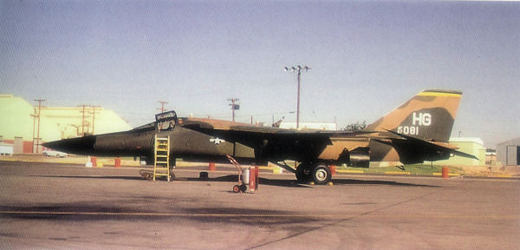 Republic F-105G Thunderchief Serial 63-8319 of Det 1, 561st Tactical Fighter (Wild Weasel) Squadron
