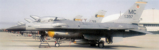 General Dynamics F-16A Block 10B Fighting Falcon, AF Serial No. 79-0397 of the 61st TFS.