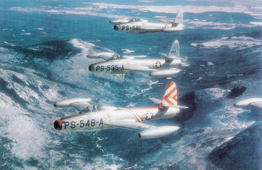 F-84G Thunderjets from the 14th Fighter Group