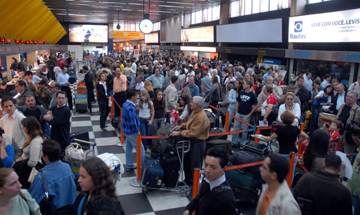 Queues at Congonhas Airport