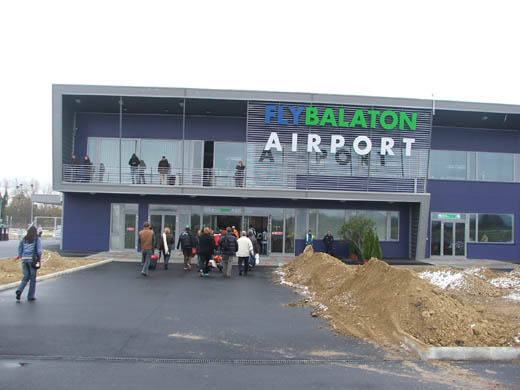 Arrival at Fly Balaton (Sármellék) Airport